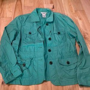 LL Bean Turquoise Jacket- L
